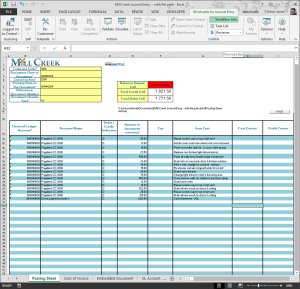 A navigation ribbon in Excel that makes the manual journal process easy and intuitive for finance professions.